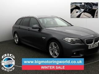 BMW 5 Series 520D M SPORT TOURING Estate 2016, 75376 miles, £14400
