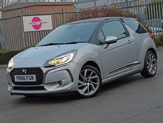 DS DS 3 DS 3 1.6 BlueHDi 120 Prestige 3dr [2 Tone Leather + Decal Roof] Hatchback 2016, 18243 miles, £9592