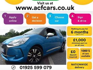 DS DS 3 PURETECH CHIC CAR FINANCE FR £33 PW Hatchback 2016, 24000 miles, £6990
