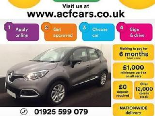 2016 GREY RENAULT CAPTUR 1.5 DCI 90 DYNAMIQUE EDC DIESEL CAR FINANCE FR £37 PW