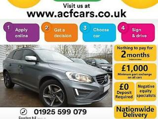 2016 GREY VOLVO XC60 2.0 D4 R DESIGN DIESEL MANUAL ESTATE CAR FINANCE FR £65 PW