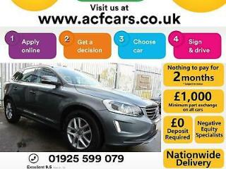 2016 GREY VOLVO XC60 2.4 D4 SE LUX NAW AWD GEARTRONIC CAR FINANCE FR £63 PW
