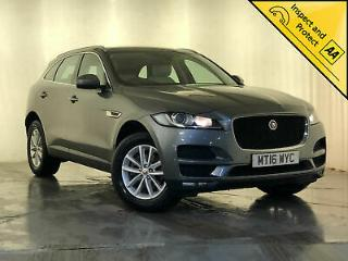 2016 JAGUAR F PACE PRESTIGE AWD CREAM HEATED LEATHER SEATS 1 OWNER SVC HISTORY