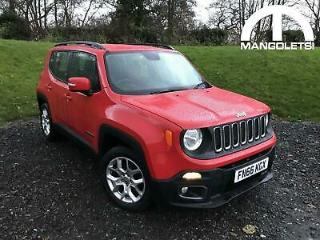 2016 Jeep Renegade 1.4T MultiAirII Longitude DDCT s/s 5dr Petrol red Semi Auto