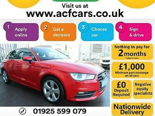 2016 RED AUDI A3 SPORTBACK 1.6 TDI 110 SPORT DIESEL 5DR CAR FINANCE FR £58 PW