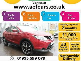2016 RED NISSAN QASHQAI 1.5 DCI 110 TEKNA DIESEL HATCH CAR FINANCE FR £58 PW