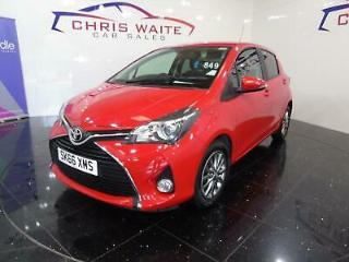 2016 Toyota Yaris 1.4 D 4D Icon 5dr Diesel red Manual