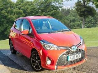 2016 Toyota Yaris 1.5 Design PETROL/ELECTRIC red Automatic