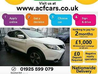 2016 WHITE NISSAN QASHQAI 1.6 DCI 130 N CONNECTA DIESEL CAR FINANCE FR £54 PW