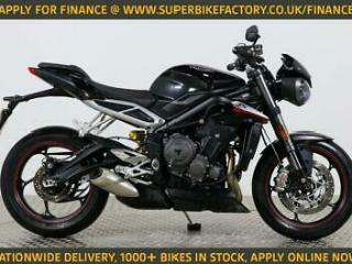 2017 17 TRIUMPH STREET TRIPLE NATIONWIDE DELIVERY, USED MOTORBIKE