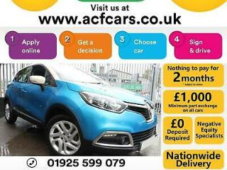 2017 BLUE RENAULT CAPTUR 1.5 DCI DYNAMIQUE NAV DIESEL CAR FINANCE FR £40 PW