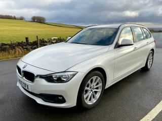 2017 BMW 316D SE TOURING ESTATE F31 LCI MANUAL IN MINERAL WHITE PEARL £30 TAX