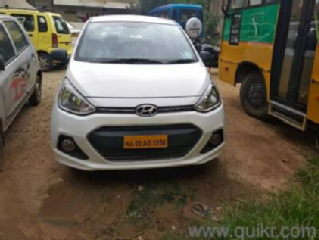 White 2017 Hyundai Xcent Base ABS 1.1 CRDi 37000 kms driven in Anekal