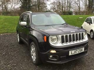 2017 Jeep Renegade 1.4T MultiAirII Limited s/s 5dr Petrol black Manual