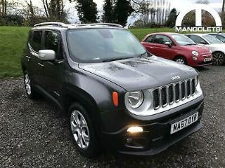 2017 Jeep Renegade 1.4T MultiAirII Limited s/s 5dr Petrol grey Manual