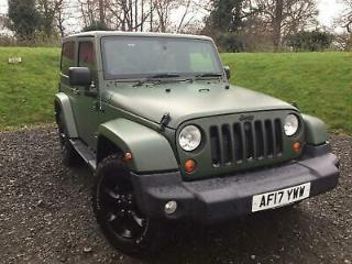 2017 Jeep Wrangler 2.8 CRD Overland Auto 4WD 2dr Diesel black Automatic