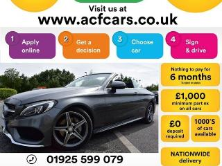 Mercedes Benz C Class C 220 D AMG LINE CAR FINANCE FR £96 PW Auto Convertible 2017, 29000 miles, £21990