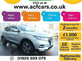 2017 SILVER NISSAN QASHQAI 1.5 DCI 110 N NCONNECTA HATCH CAR FINANCE FR £67 PW