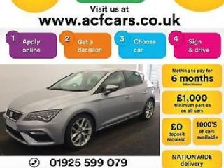 2017 SILVER SEAT LEON 1.4 TSI 125 FR TECHNOLOGY 5DR HATCH CAR FINANCE FR £54 PW