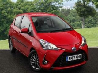 2017 Toyota Yaris 1.5 VVT i Icon Tech PETROL/ELECTRIC red Automatic