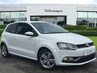 2017 Volkswagen Polo 1.2 TSI Match Edition 90PS 3Dr Hatchback Petrol white Manua