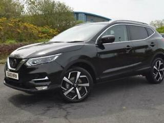 2018 18 NISSAN QASHQAI 1.5 dCi Tekna [Glass Roof Pack] 5dr in Pearl Black