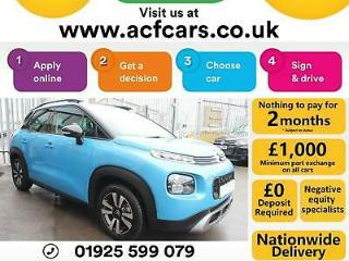 2018 BLUE CITROEN C3 AIRCROSS 1.2 PURETECH 82 FEEL PETROL CAR FINANCE FR £52 PW