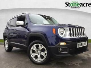 2018 Jeep Renegade 1.4T MultiAirII Limited SUV 5dr Petrol Auto 4WD s/s