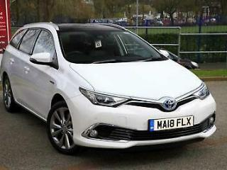 2018 Toyota Auris 1.8 VVT i HSD Excel Touring Sports PETROL/ELECTRIC white CVT
