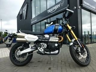 2019/19 TRIUMPH SCRAMBLER 1200 XE, COBALT BLUE, EX DEMONSTRATOR, VERY LOW MILES