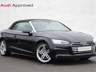Audi A5 40 TDI S Line 2dr S Tronic Convertible 2019, 4000 miles, £27500