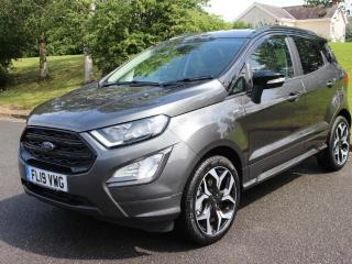 Ford EcoSport 1.0T EcoBoost ST Line s/s 5dr WITH 3 YEAR FORD WARRANTY 2019, 100 miles, £19000