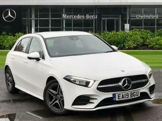 2019 Mercedes Benz A Class A180 AMG Line 5dr Auto Petrol white Automatic