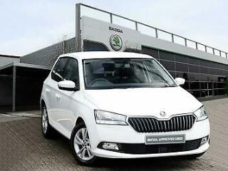 2019 Skoda Fabia 1.0 MPI 75ps SE s/s 5 Dr Hatchback Petrol white Manual