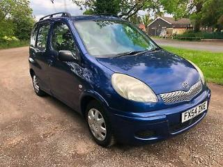 54 TOYOTA YARIS VERSO 1.3 VVTi T3 FAMILY OWNED DRIVES WELL NO FAULTS PX SWAPS