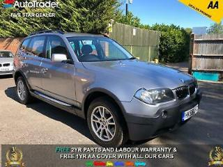 55 REG BMW X3 2.5 SE 6 SPEED DOCUMENTED SERVICE HISTORY FULL LEATHER