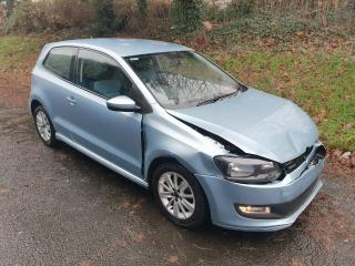 61 VOLKSWAGEN POLO 1.2 TDI BLUEMOTION Salvage / Damaged Repairable. CAT N!