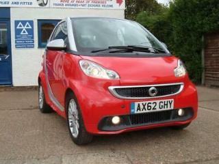 62 2013 Smart fortwo 1.0 71bhp Softouch Pulse only 46230 miles