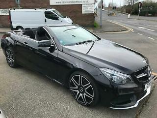 65 MERCEDES BENZ E350 7G TRONIC PLUS AMG LINE CONVERTIBLE IN BLACK