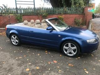 AUDI A4 04/04 CABRIOLET 1.8T SPORT 58000 WITH HISTORY OCT 19 MOT