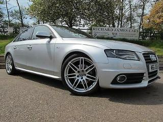 Audi A4 2.0TDI 143PS S Line 2.0 tdi saloon half black leather service history