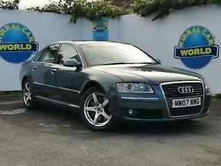 AUDI A8 FSi Multitronic AUTO 2007 in Platinum * FSH, ONE OWNER