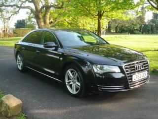 AUDI A8 L SE EXEC,2013 63,BLACK/QUILTED BLACK LEATHER,FULL SERVICE HISTORY !
