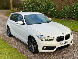 BMW 118 1.5 Sports Hatch i Sport PETROL WHITE 2016 22K SAT NAV 17 ALLOYS DAB