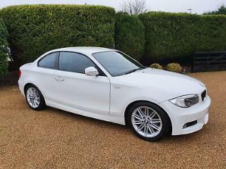 BMW 1 SERIES 120 2.0 M SPORT AUTOMATIC COUPE 2 DOOR 2012 WHITE
