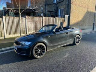 BMW 1 Series 2009 Black Convertible Soft Top, 118 AUTOMATIC, Black