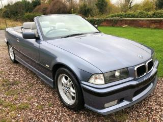 BMW 323i E36 *SPORT PACKAGE* AUTO CONVERTIBLE STAHL BLUE WITH DOVE GREY LEATHER