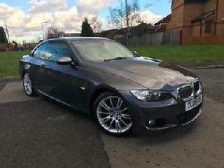 BMW 325D M SPORT CONVERTIBLE 2008 MANUAL FSH HEATED LEATHER