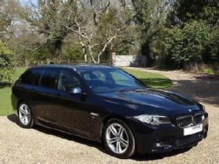 BMW 520d M Sport Touring Auto 190bhp Carbon Black / Black Leather