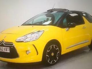 CITREON DS3 CONVERTIBLE 1.6 118bhp D Style Plus YELLOW 2013